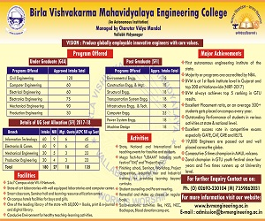 About BVM Engineering College