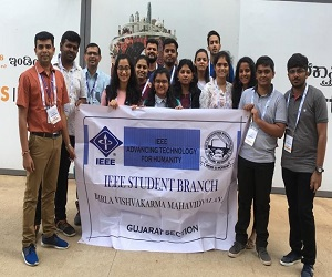 Visit of Final year EC students to Electronica India 2018 at Bengaluru