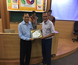 Dr. Rashesh Mehta received the award for AAA rating in NPTEL Local Chapter