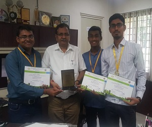 Students got first prize in poster making competition on World Habitat Day